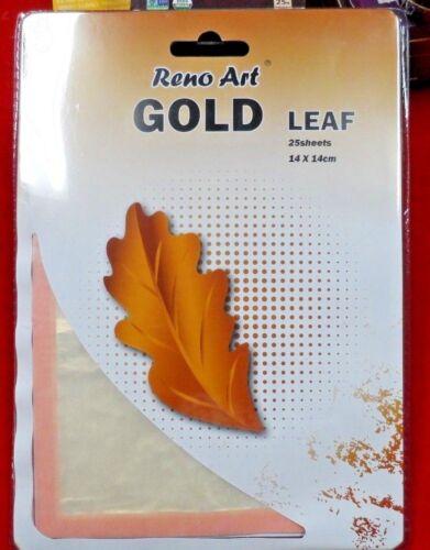 BULK GOLD LEAF SHEET 200 X PIECES CRAFT restoration art 14 x 14cm FREE  POST