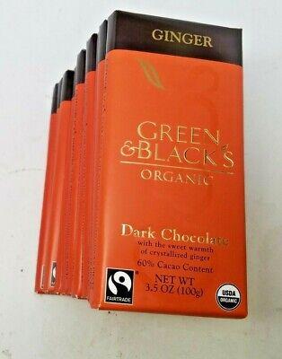 Green & Black's Organic Dark Chocolate with Ginger (11 total bars) 8/2020 Organic Chocolate Gingers