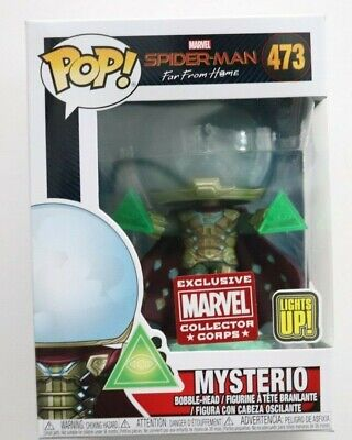 Funko Pop Mysterio Light Up Marvel Collector Corps 473 Spider-Man Far From Home