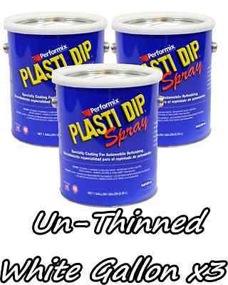 3 Gallons White Unthinned Performix Plasti Dip Concentrate Strength Free Sh