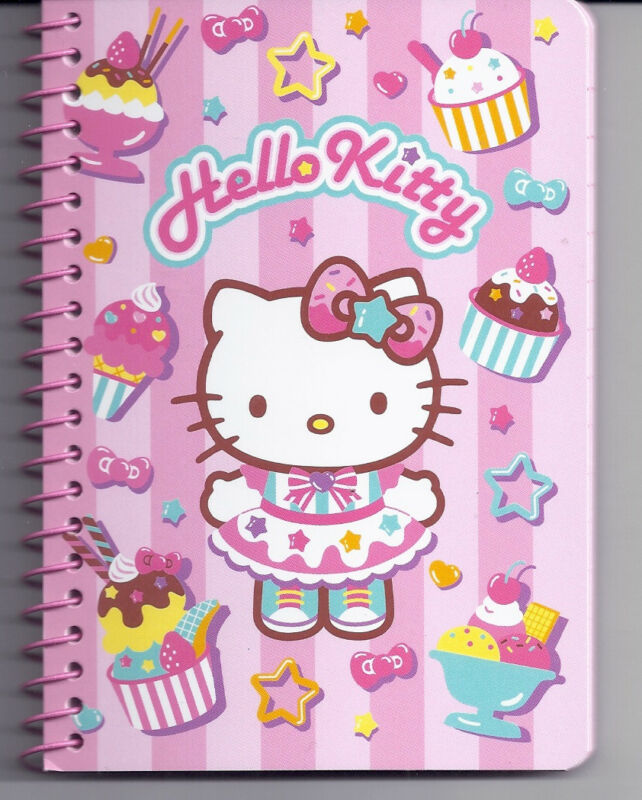 Sanrio Hello Kitty Spiral Notebook Cake and Ice Cream