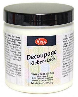 DECOUPAGE Kleber + Lack 250 ml VIVA DECOR Serviettenkleber Decopatch 3050