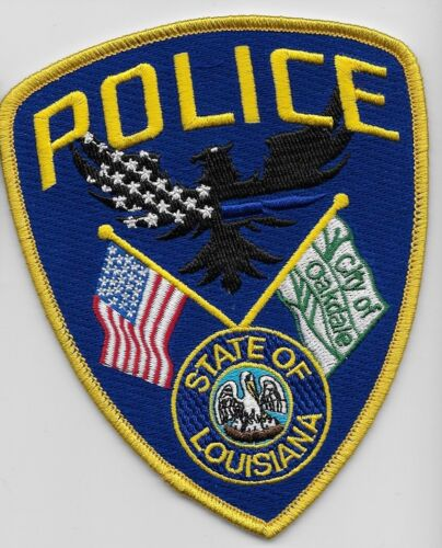 Oakdale Police State Louisiana LA NEW Colorful