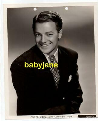 CORNEL WILDE ORIGINAL 8X10 PHOTO TAKEN BY FRANK POWOLNY 1946 PORTRAIT