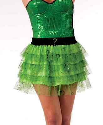 Riddler Tutu Skirt Green Batman Villain Fancy Dress Halloween Costume Accessory](Riddler Halloween Costume)
