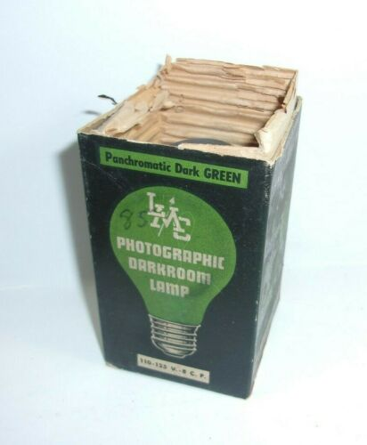 Vintage Photographic Darkroom Lamp Panchromatic Dark Green Bulb  T*