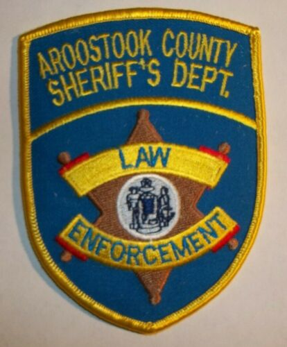 NEW Embroidered Uniform Patch AROOSTOOK COUNTY SHERIFF