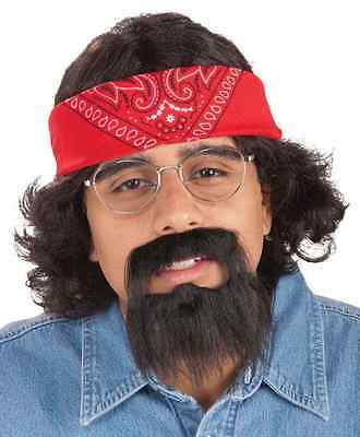 Chong Kit Tommy Cheech 60's Hippie Dude Fancy Dress Halloween Costume Accessory - Chong Halloween Costume