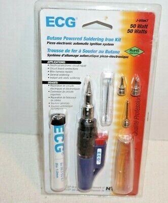Ecg By Nte J-050kt 50 Watt Butane Powered Soldering Iron Kit