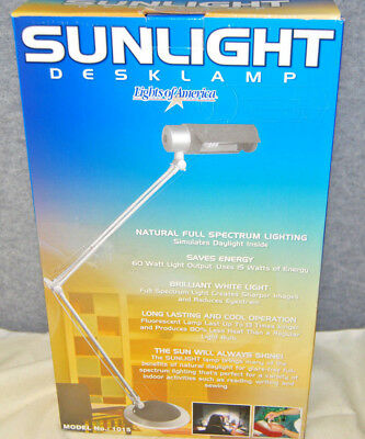 Lights of America SUNLIGHT DESK LAMP #1015 NATURAL FULL SPECTRUM LIGHTING (Sunlight Desk Lamp Natural Full Spectrum Sun Light)