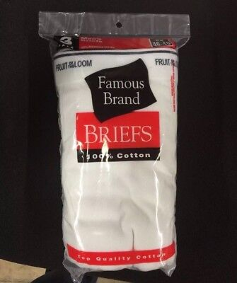 Mens 6-Pack White briefs Fruit of the loom- Gildan in Famous Brand Bag -