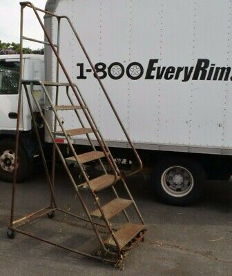 Rolling Step Ladder - 7 Step - 24 Wide - 66 Tall At Highest Step
