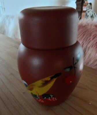 Helene Niebuhr Wwe Keramik Dose  Spirituosen-Behälter signiert