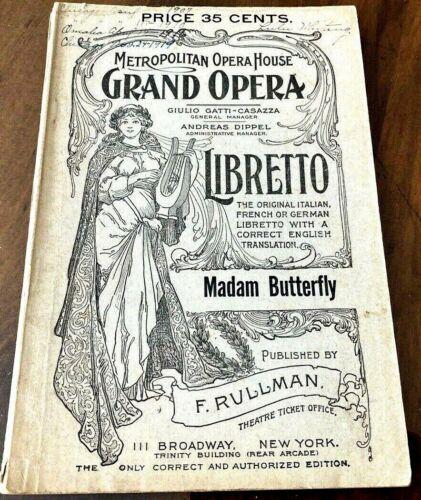Madame Butterfly Libretto, Metropolitan Opera Italian and English, Fred Rullman