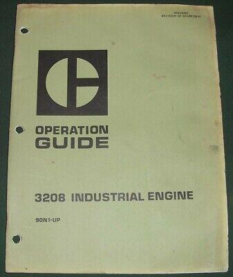 Cat Caterpillar 3208 Idustrial Engine Operators Guide Operation Manual Sn 90n