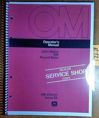 John Deere 500 Round Baler Owners Operators Manual Om-e58251 D5 475