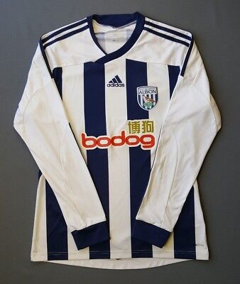 4.8/5 West Bromwich Albion 2011 2012 Football Home Jersey Shirt Long Sl.Adidas M image