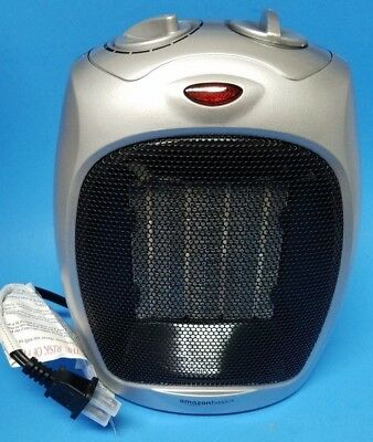 Amazon Basics Ceramic Space Heater with Adjustable Thermostat