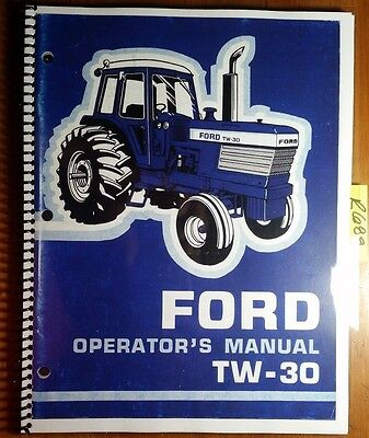 Ford Tw-30 Tw30 Tractor 1978-80 Owners Operators Manual Se 3733 127810 1287