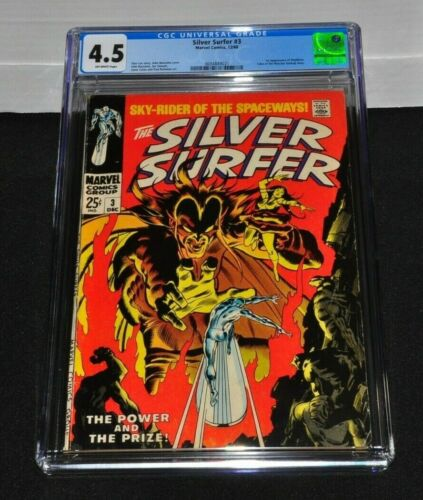 Silver Surfer 3 CGC 4.5 Off-White Pages 1968 1st Appearance of Mephisto