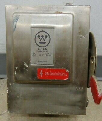 30 Amp Westinghouse Heavy Duty Safety Switch 240vac Cat No. Whf321 Disconnect