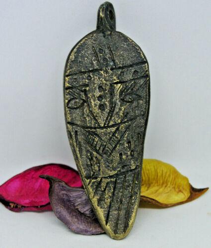 Ancient Fantastic Viking Bronze SILVER Amulet PENDANT * Odin 8-10th Century AD.