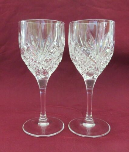 SET OF 2 CRYSTAL SINGAPORE AIRLINES FIRST CLASS APERTIF DRINKS GLASSES, 4 3/4""