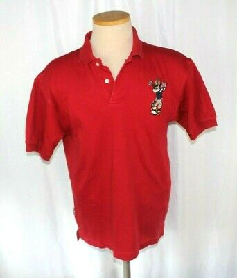 Bugs Bunny Golfing Red Polo Shirt Acme Clothing Company Small Warner Brothers