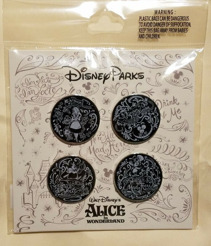 Disney Pins Alice in Wonderland Booster Set (4 pins) Authentic
