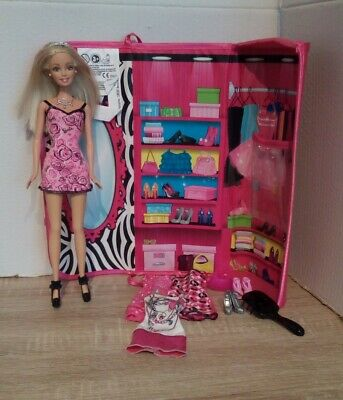 Barbie Hot Pink Clutch Bag With Doll And Accessories