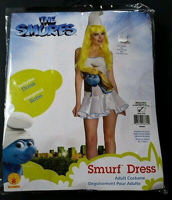 Smurfette Dress The Smurfs Adult Sexy  Classic Halloween Costume Small 2 4 6 - Halloween Costumes Smurfs