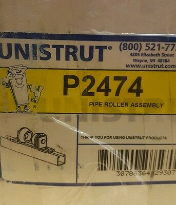 Unistrut P2474 Pipe Roller Assembly 1 Set2 Rollers Zinc