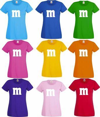 Für M&M Kostüm Fans MM T-Shirt Karneval Fasching Dart Gruppenkostüm Herren Damen