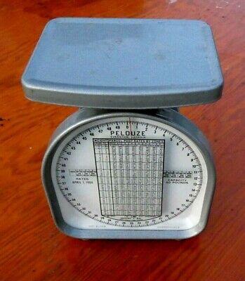 Vintage 1964 Pelouze 50 Lb Postal Postage Scale Model Y50 Mailing Analog