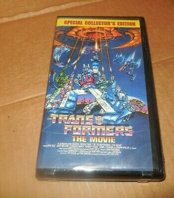 The Transformers VHS Tape The Movie Clam Shell