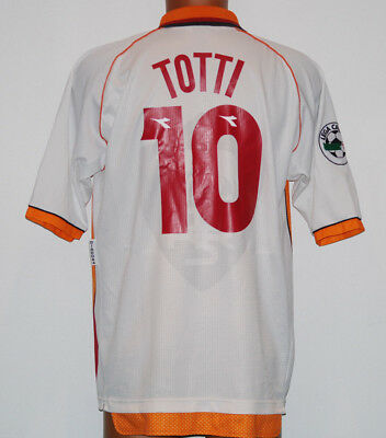 maglia totti AS Roma Diadora L no MATCH WORN ISSUED 1997 1998 INA away  usato Roma 83937d95b73