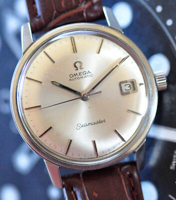 Vintage 1970 Omega Seamaster Watch Original Silver Dial Cal 565 Runs Looks Great