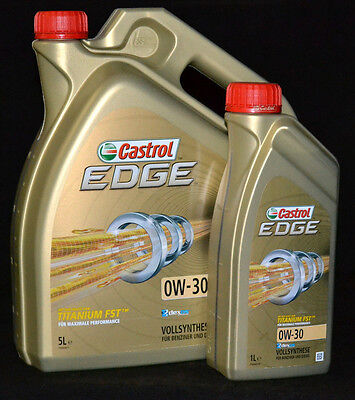 5+1 Liter Castrol EDGE FST 0W-30 Motoröl 0W30 VOLLSYNTHESE  MERCEDES Opel dexos2