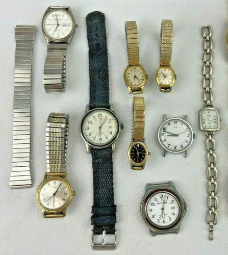 Vintage Watch Lot Quartz Wind Up Men Women TIMEX CARAVELLE MILAN ADVANCE PURITAN