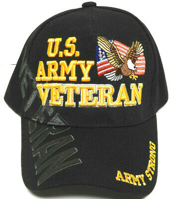 "U.S.ARMY VETERAN Cap/Hat W/Flag & Eagle ""ARMY STRONG"" Military *Free Shipping*"