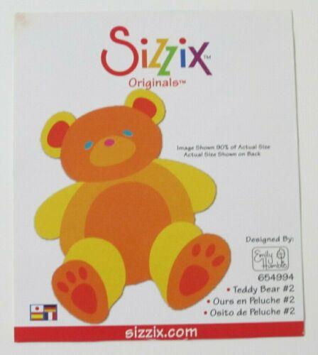 Sizzix Originals Teddy Bear #2 Die - NO CASE - paper crafts