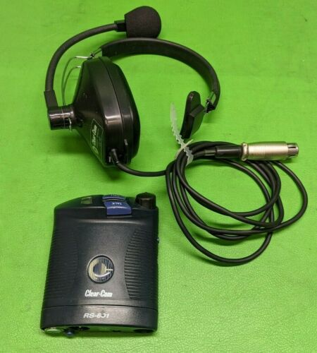 Clear-Com Single Channel Beltpack RS-601 w/ Headset CC-40