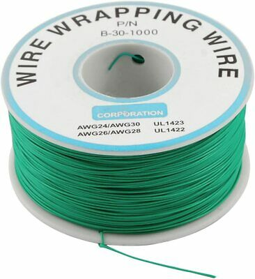 Pn Dm-30-1000 Green Insulated Pvc Coated 30awg Wire Wrapping Wires Reel 820ft