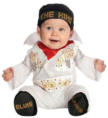 Baby Elvis Costumes Halloween (Elvis Presley White Aloha Eagle Fancy Dress Halloween Infant Baby Child)