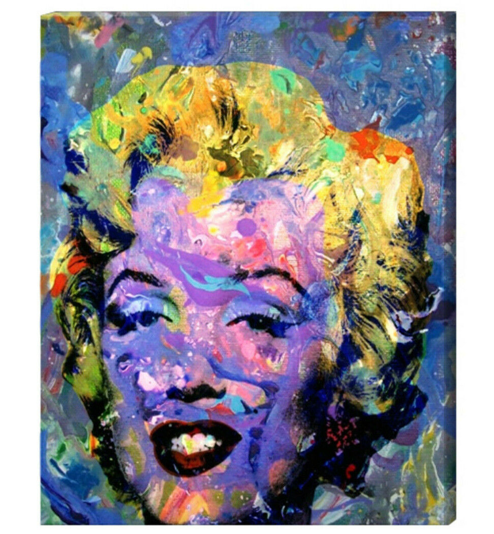 Marilyn Monroe Art Canvas Painting Or Photo Print Abstract Andy Warhol Artwork - $180.00