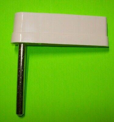 "Pinball Machine (1) White Flipper Bat w/ Shaft No Logo Stern Bally Williams 3"""