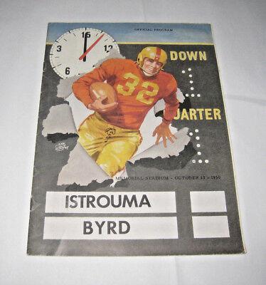 Oct 13 1950 Program Baton Rouge Istrouma Indians V Bryd John Cullen Murphy Art