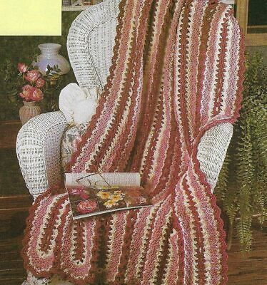 ROSES & LACE AFGHAN MILE A MINUTE DIGEST SIZE CROCHET PATTERN INSTRUCTIONS Mile A Minute Crochet