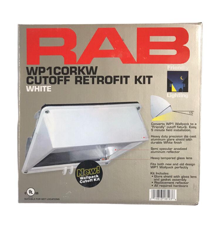 RAB Lighting WP1CORKW White WP1 Wall Pack Cutoff Retrofit Kit