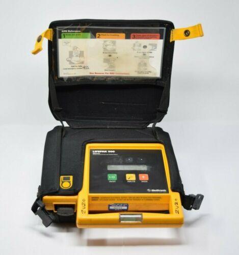 Lifepak 500 Biphasic Defibrillator w Case & Battery Works Great